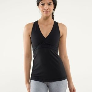 Lululemon Deep V Tank in Black, Size 0-2